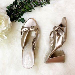 Dolce Vita   Hylde   Metallic Gold Knotted Heels